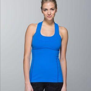 Lululemon blue racerback size 4 workout shirt